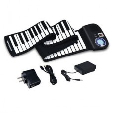 88 Key Electronic Roll Up Piano Keyboard Silicone Rechargeable Portable w/Pedal