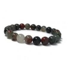8mm Bloodstone bracelet 7.5inches Bead Gemstone Chakas Stretchy yoga mala Monk