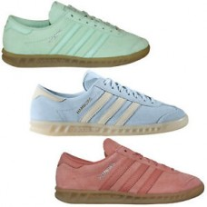Adidas Originals Hamburg Ladies Sneaker Shoes Leather Shoes Rosa Mint Light Blue