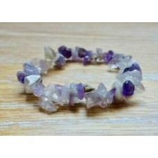 Amethyst Healing Raw Stone Yoga Bracelet February Birthstone Natural Gemstone