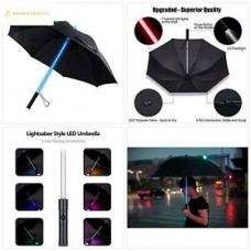 BESTKEE Lightsaber Umbrella LED Laser Sword Light up Golf Umbrellas 7 Color Chan