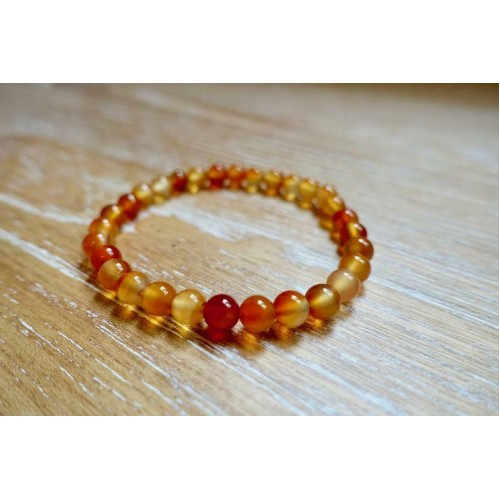 Carnelian Creativity Stone Bracelet Healing Yoga Charm Beads Natural Gemstone