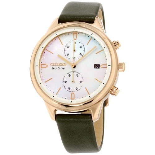 Citizen Chandler Eco-Drive Mother of Pearl Dial Ladies Watch FB2008-01D