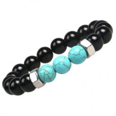 Faux Turquoise Natural Stone Beads Bracelet