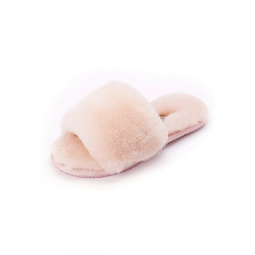 "Fluffy Soft ""UGG Like"" Yeah Slide Slippers Women Sandals Size 7,8,9 Pink Purple"