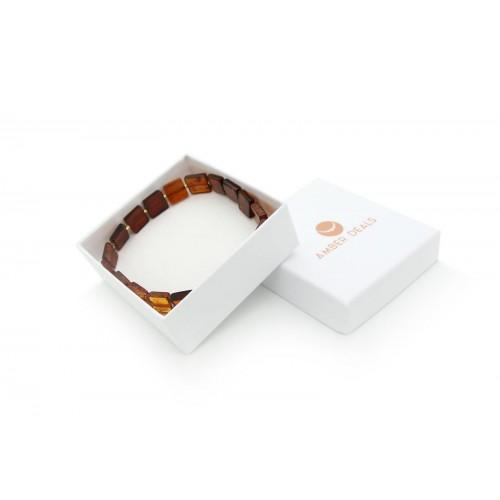 Baltic Cognac Amber Stretch Bracelet For Women