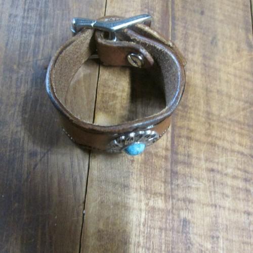 Hermann Oak leather bracelet  hand made in the USA adjustable