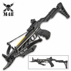 M48 Tactical Powerful Self Cocking Hunting Crossbow Pistol Bow 80lb + Arrows