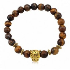 Men Fashionable Resin Alloy Beaded Bracelet