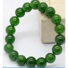 Natural 8mm Emerald Round Gemstone Beads Stretchy Bangle Bracelet 7.5''