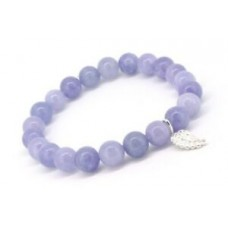 Natural Celestite Crystal Energy Reiki Infused Healing Gemstone Mala Bracelet