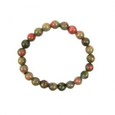 Natural Unakite Jasper Gemstone Beaded Chakra Bracelet Heal Reiki Stone Jewelry