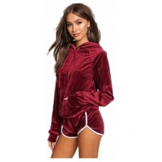 New Autumn and Winter Women'S Clothing with A Cap Leisure Sportswear