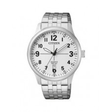 New Citizen BI1050-81B Men's Stainless Steel White Dial Date Analog Quartz Watch