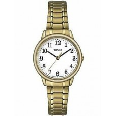 New Timex Easy Readers Womens Gold Tone Steel Expansion Bracelet Watch TW2P78600