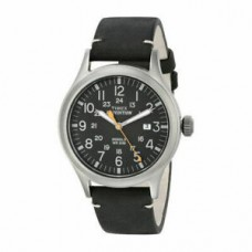 New Timex Men's Expedition TW4B01900 Black Dial Black Leather Quartz Sport Watch