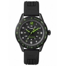 New Timex Men's T2P024 Ameritus Black Dial Silicone Strap Analog Sport Watch
