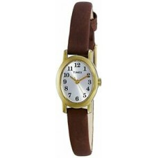 New Timex Women's T2M567 Cavatina Brass Watch with Brown Leather Strap