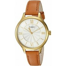 New Timex Women's TW2R27900 Peyton Brown/Gold-Tone Leather Strap Watch
