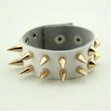 Punk Style Sharp Rivet Design Leather Bracelet For Men and Women
