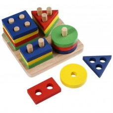 Wooden Geometric Sorting Board Toy