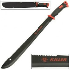 Zombie Killer Red Outdoor Hiking and Backpacking Bolo Machete Knife w/ Strap NEW
