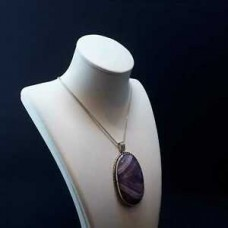 handcraft Natural Amethyst Pendant Necklace Stone