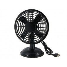 360 Degree Rotatable 5V 2-Mode USB Mini Clip Fan (Black)