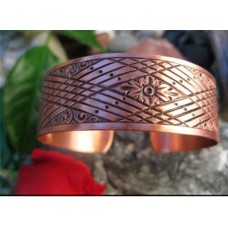 Women's 7 Inch Copper Cuff Bracelet - 1/2 of an inch wide