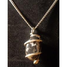 ZEBRA STONE Pendant Silver 20 inch Length Silver Chain