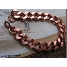 Men's 8 Inch Solid Copper Bracelet - 5/8 of an inch wide - Our widest design