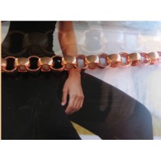 Ladies Solid Copper 7 Inch Bracelet - 5/16 of an inch wide