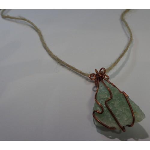 Green Aventurine Copper Wrap