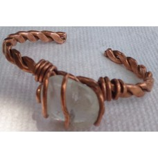 Clear Quartz Crystals Copper Wrap