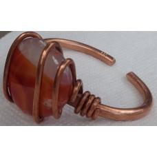 Carnelian Stones Copper Bracelet