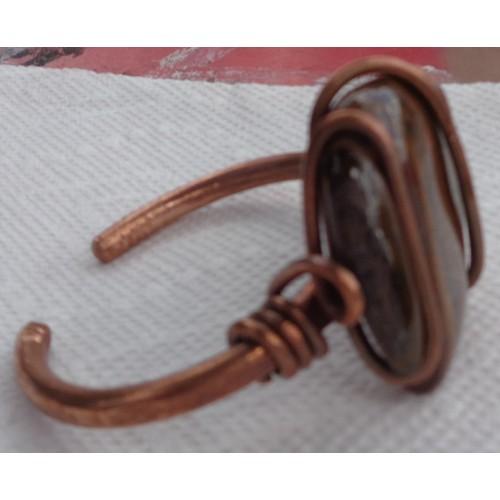 Tigers Eye Heavy Copper Bracelet