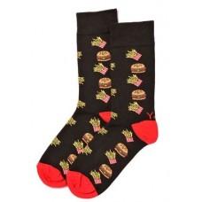 Burger King, Men's Crew Sock, Burger & Fries Design