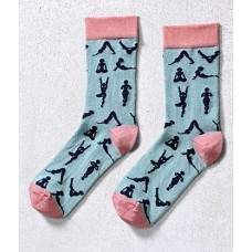 Zen, Women's Crew Sock, Yoga Design
