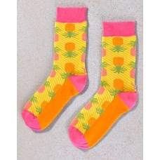 WOMEN'S CREW SOCK, PINEAPPLES