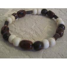 Mahogany Jade Bone Wood Bracelet