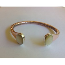 Copper, Sterling & mother of pearl bracelet