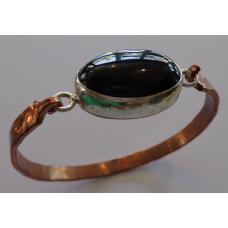Bracelet Copper Onyx Stone