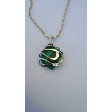 Sterling Silver & Malachite Necklace